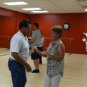 Middle-aged couple at dance studio
