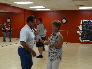 Middle-aged couple at dance studio in Arizona