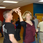 a couple country dancing