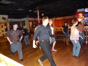 Country line dancing in Arizona