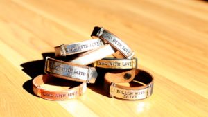 Lead with Love Leather Bracelets